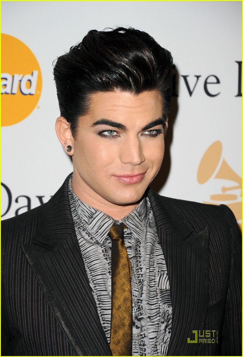 adam lambertpre grammy gala salute to industry icons 02