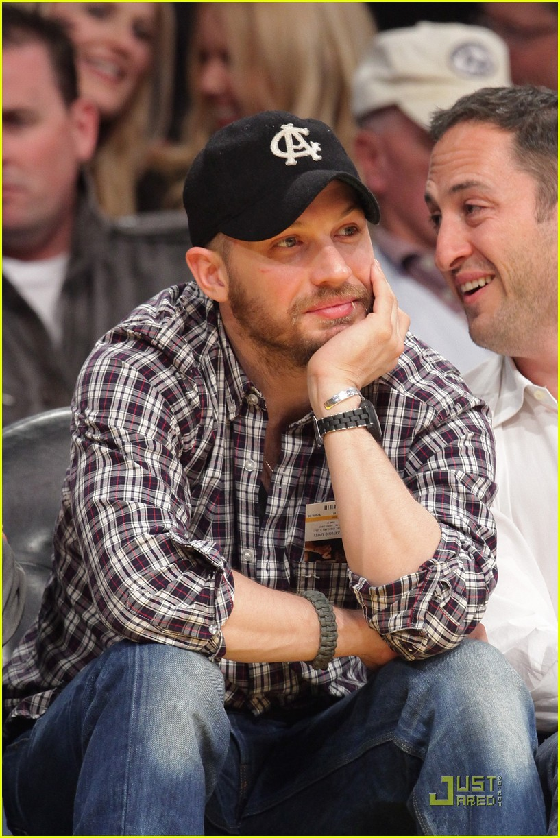 tom hardy lakers game 06