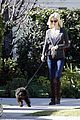 january jones walking dog 07