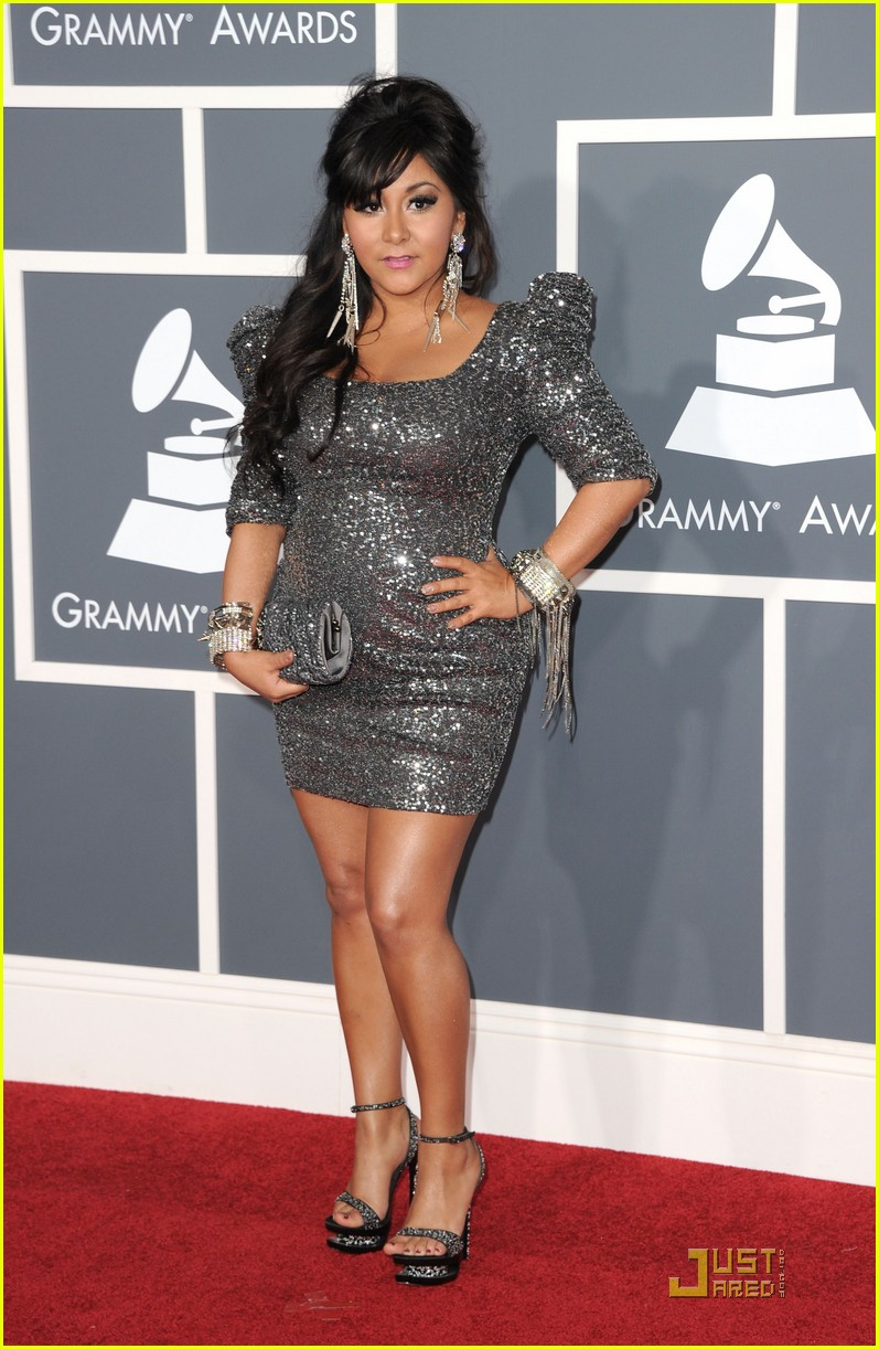 snooki situation grammys red carpet 06