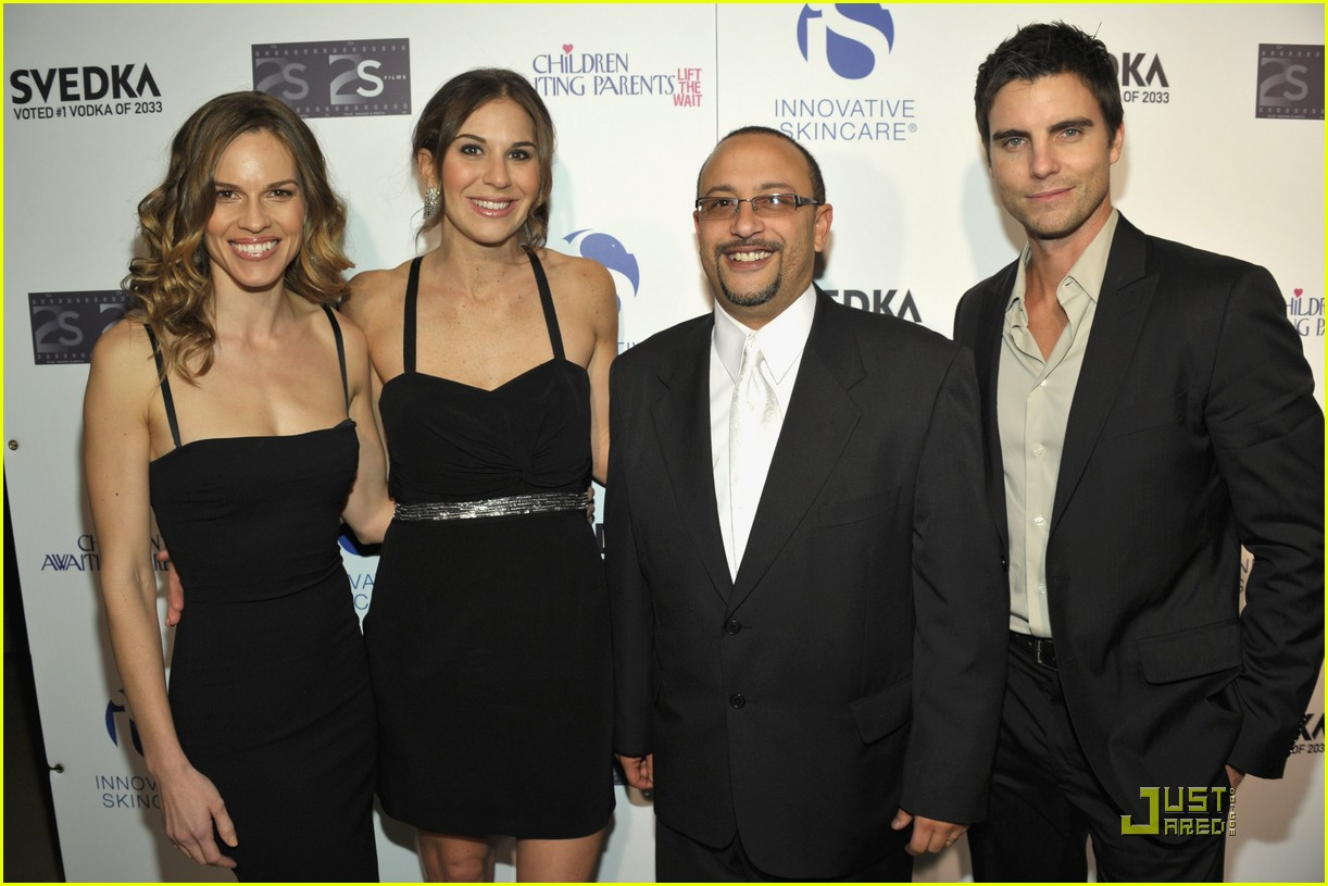hilary swank colin egglesfield help children awaiting parents 20