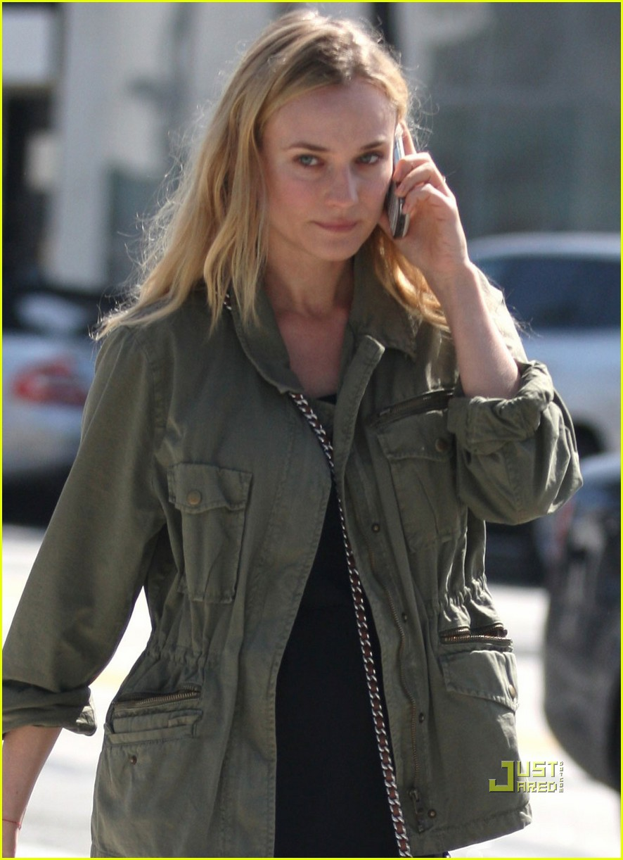 diane kruger military jacket phone 04