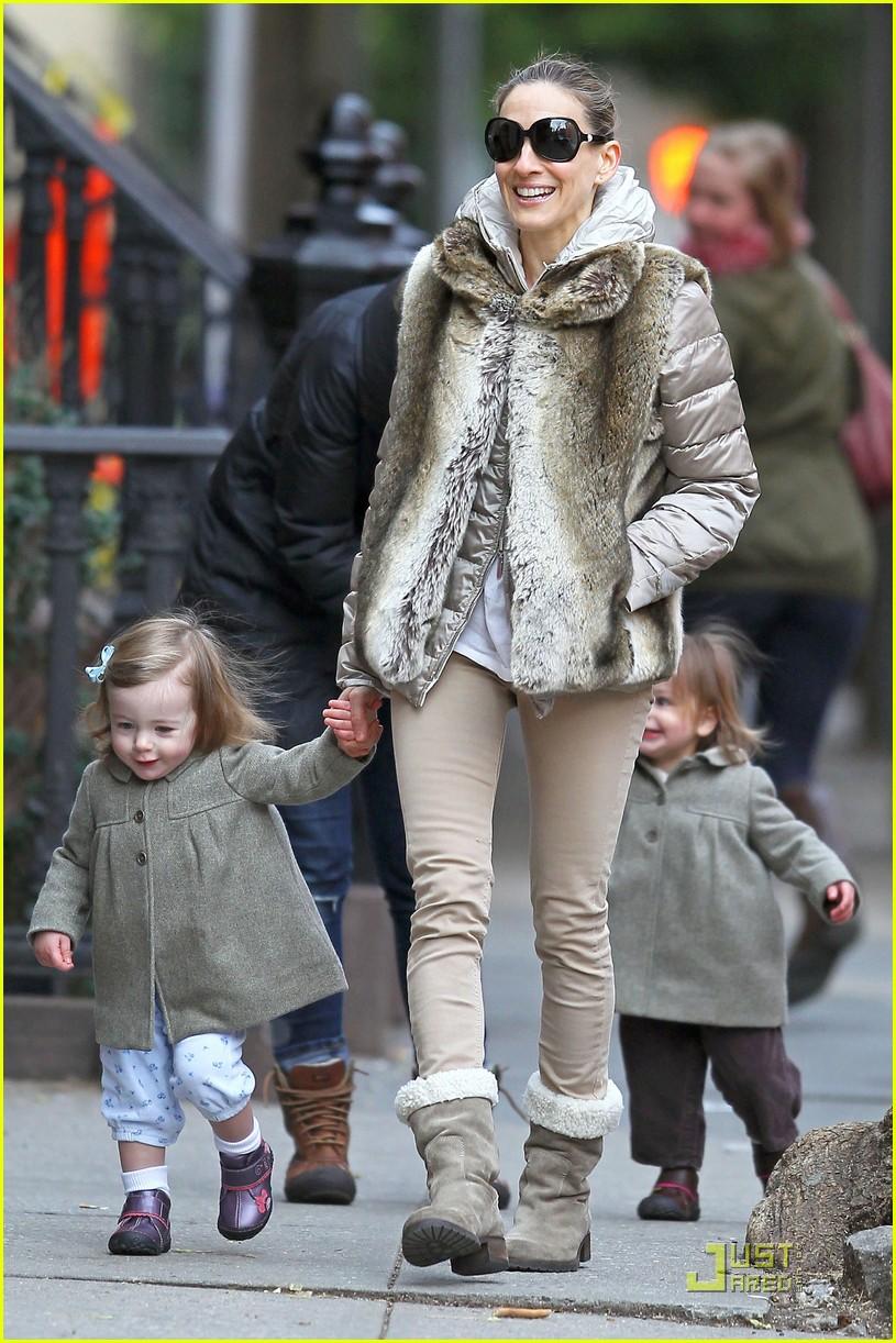 ksarah jessica parker birthday stroll twins 05