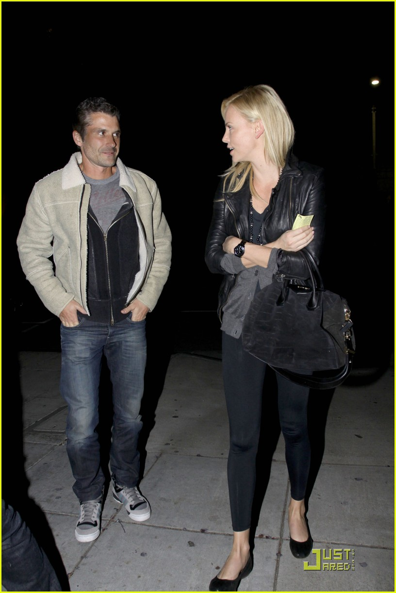 charlize theron dines with a mystery male 032524476