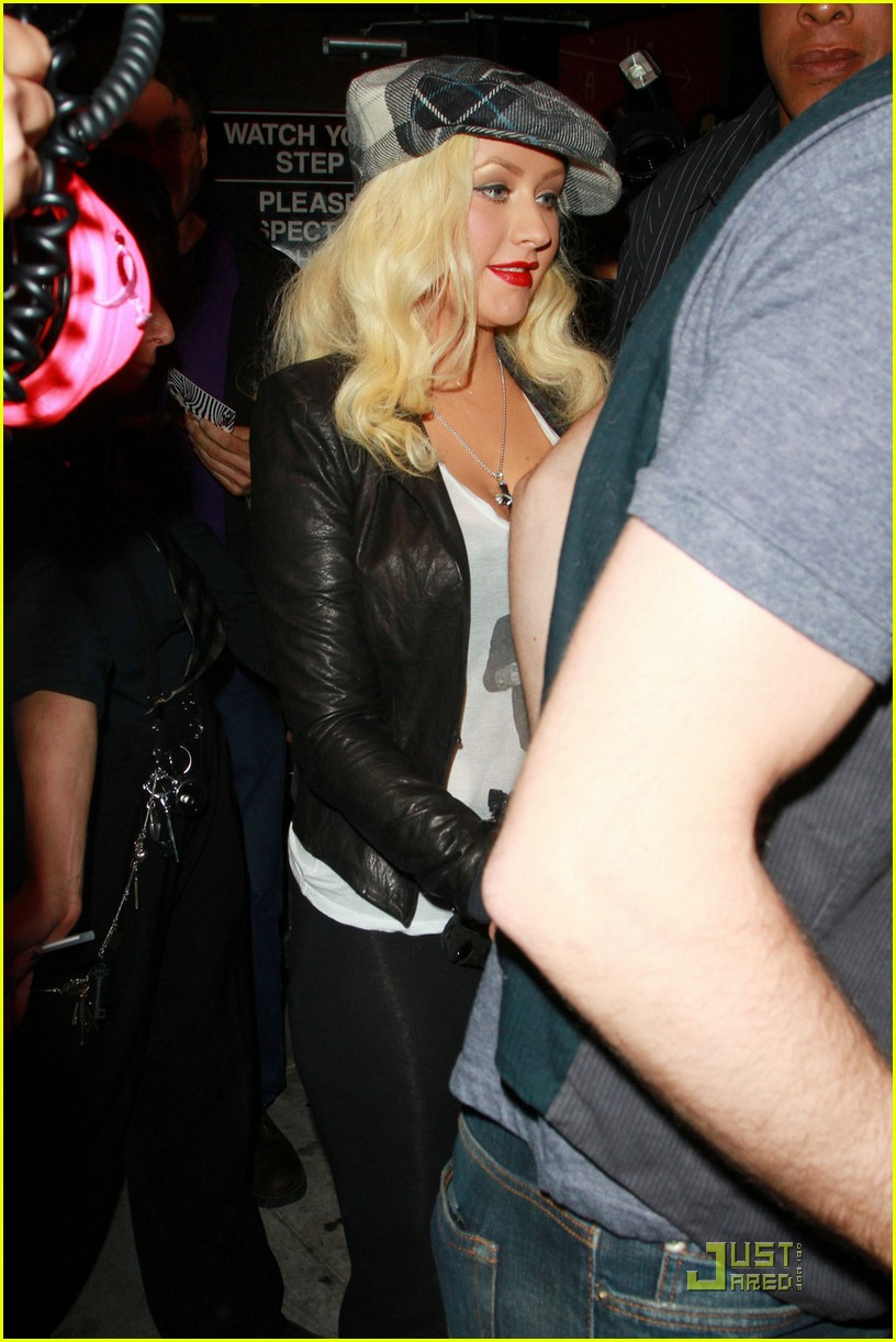 christina aguilera linda perry concert with matthew rutler 092537347
