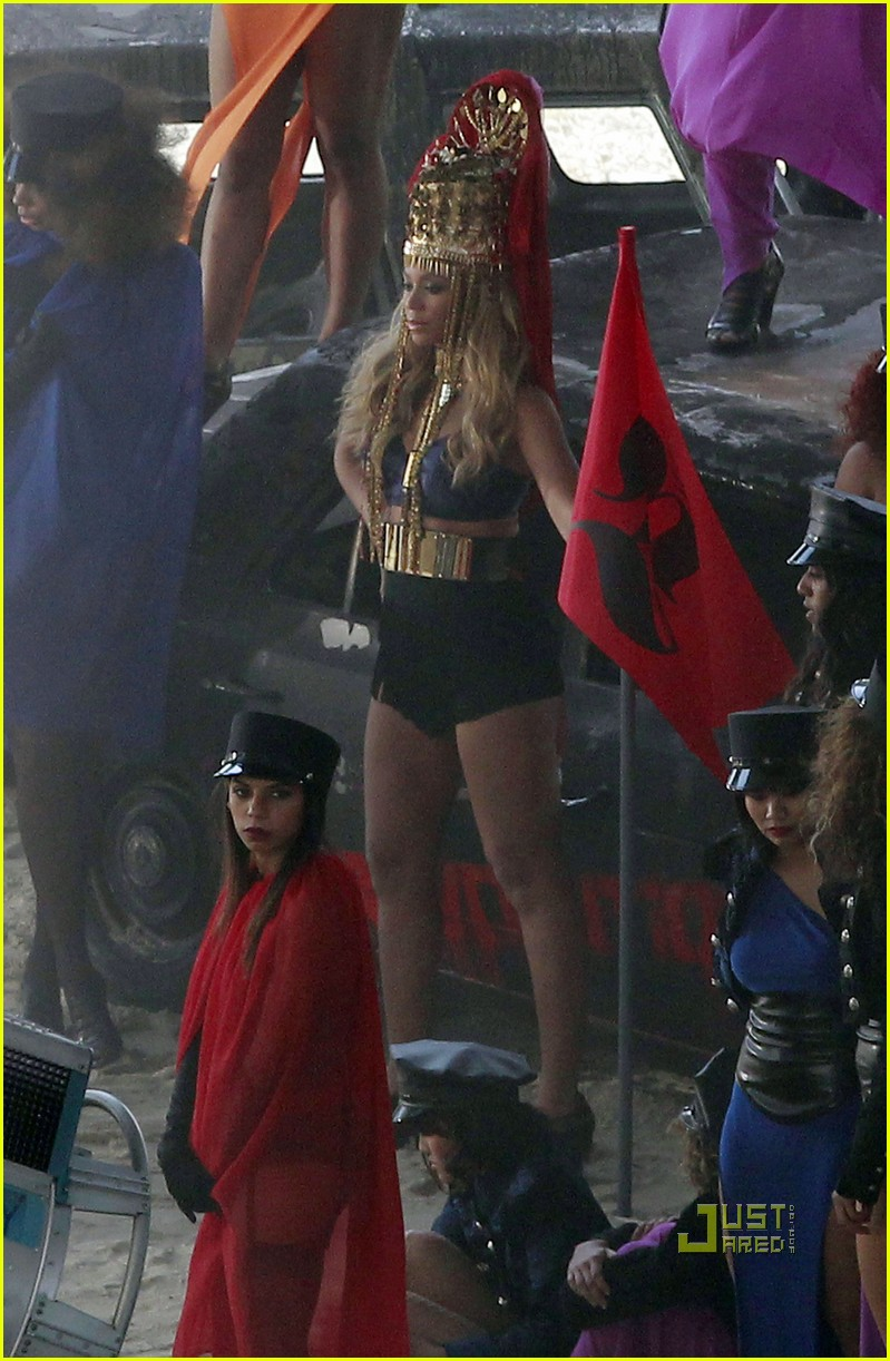 beyonce shooting music video 01