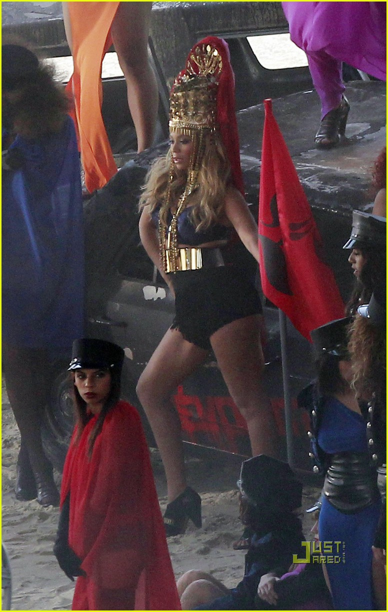 beyonce shooting music video 03