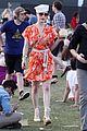 dita von teese orange dress coachella 07