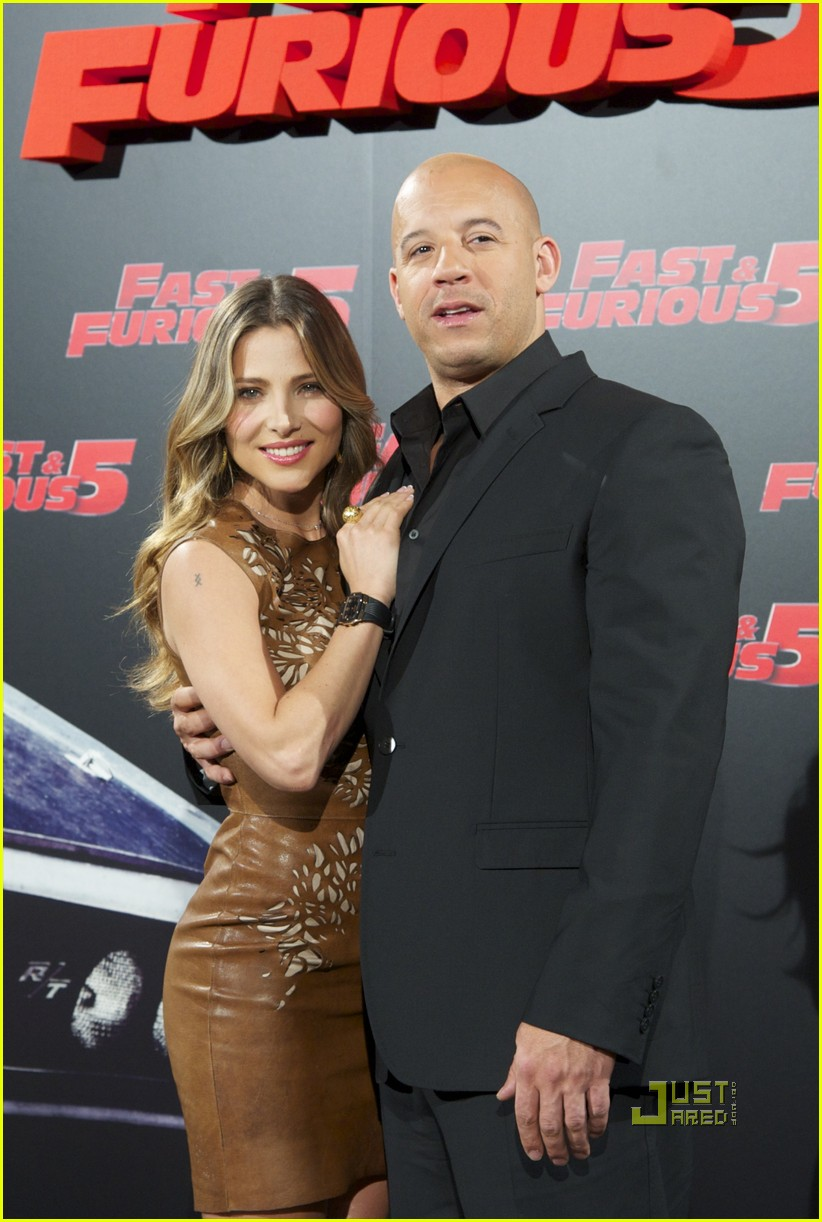 elsa pataky vin diesel fast 5 photo call madrid 01