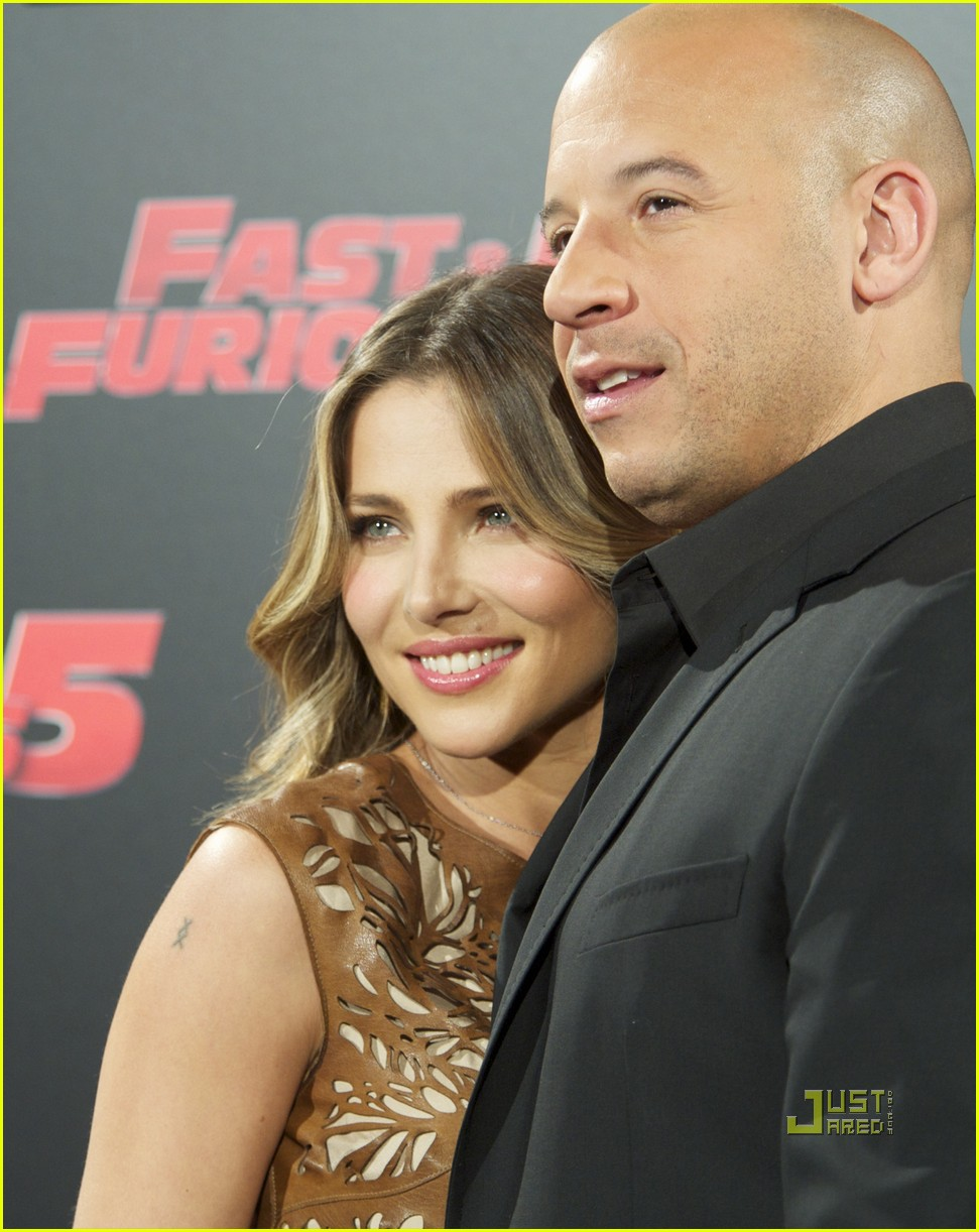 elsa pataky vin diesel fast 5 photo call madrid 04