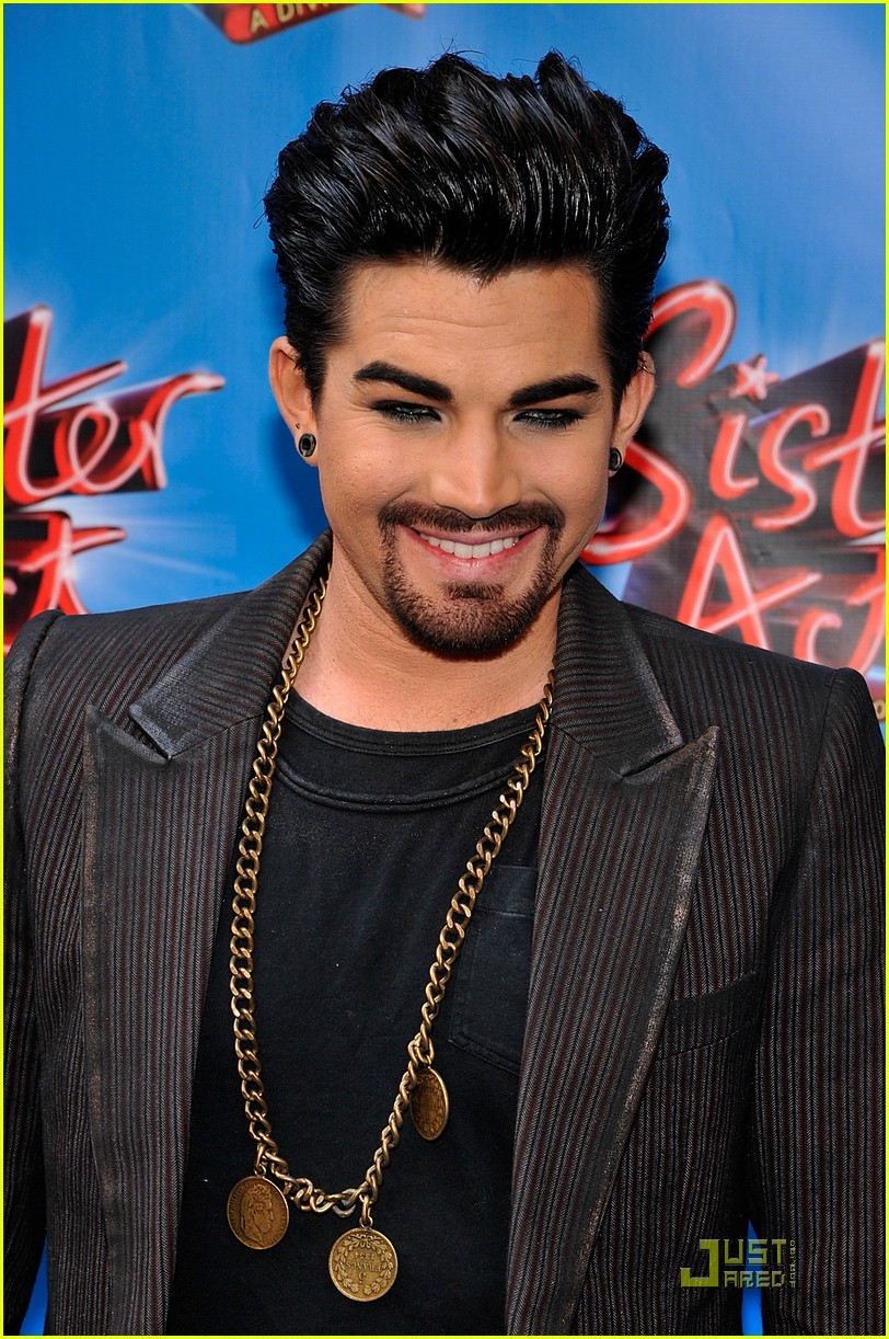 adam lambert facial hair for sister act 022536948