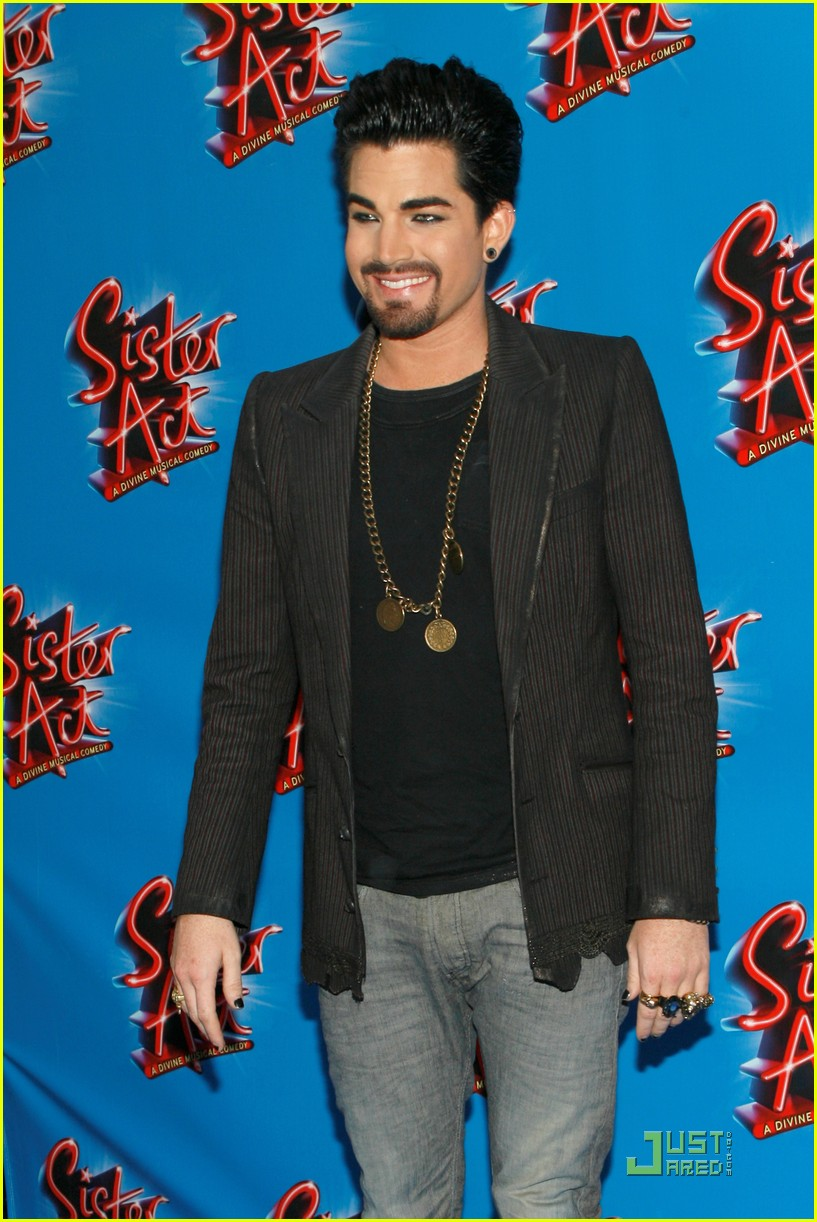 adam lambert facial hair for sister act 032536949