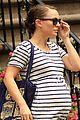 natalie portman baby bump striped tee 01