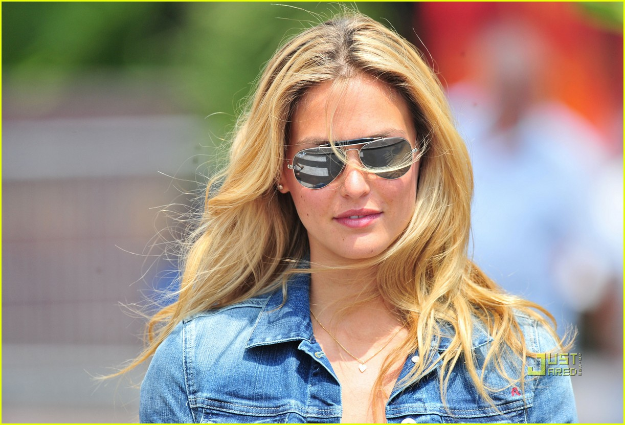 bar refaeli jean jacket out cannes 052545359