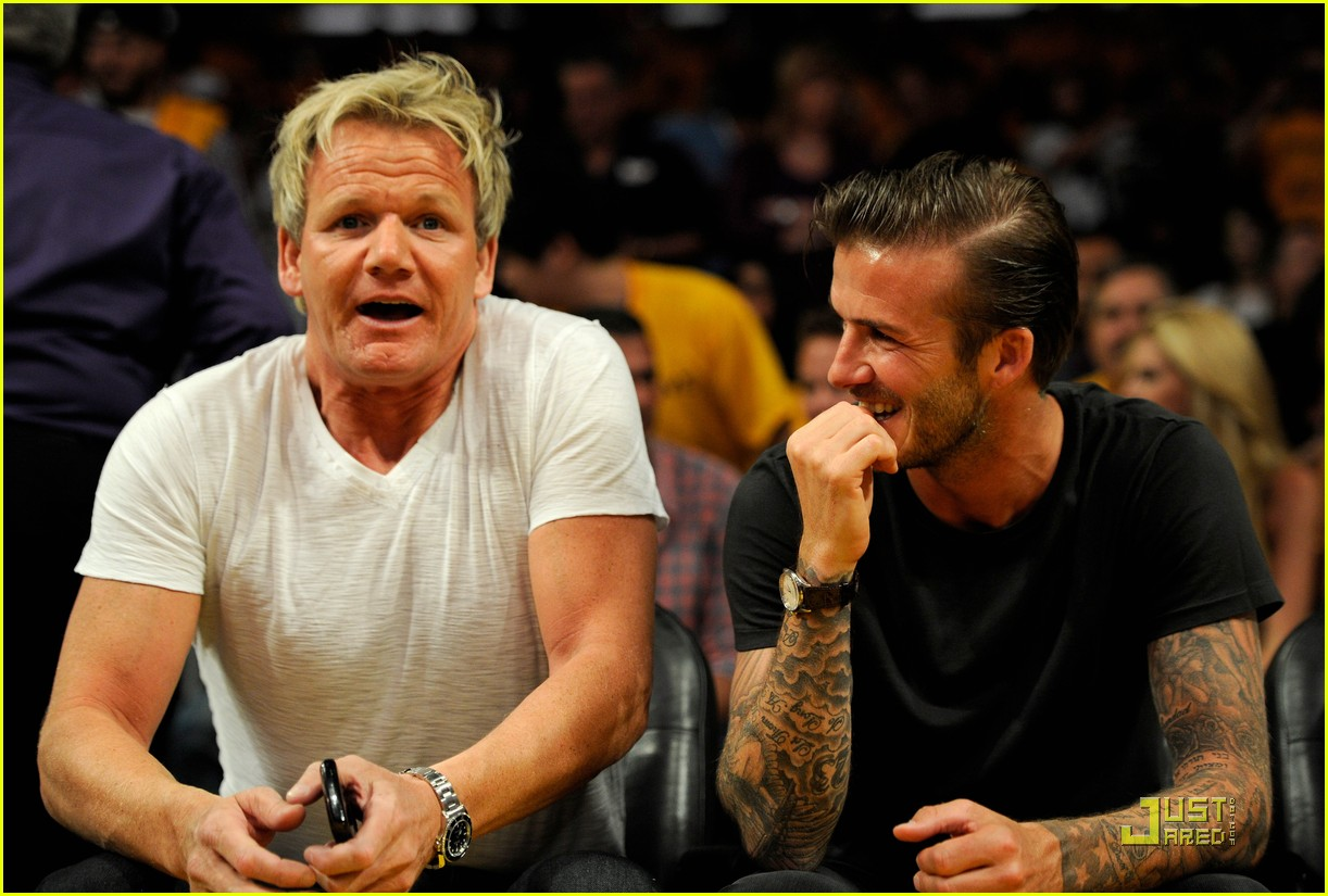 david beckham gordon ramsay watch the lakers lose 01
