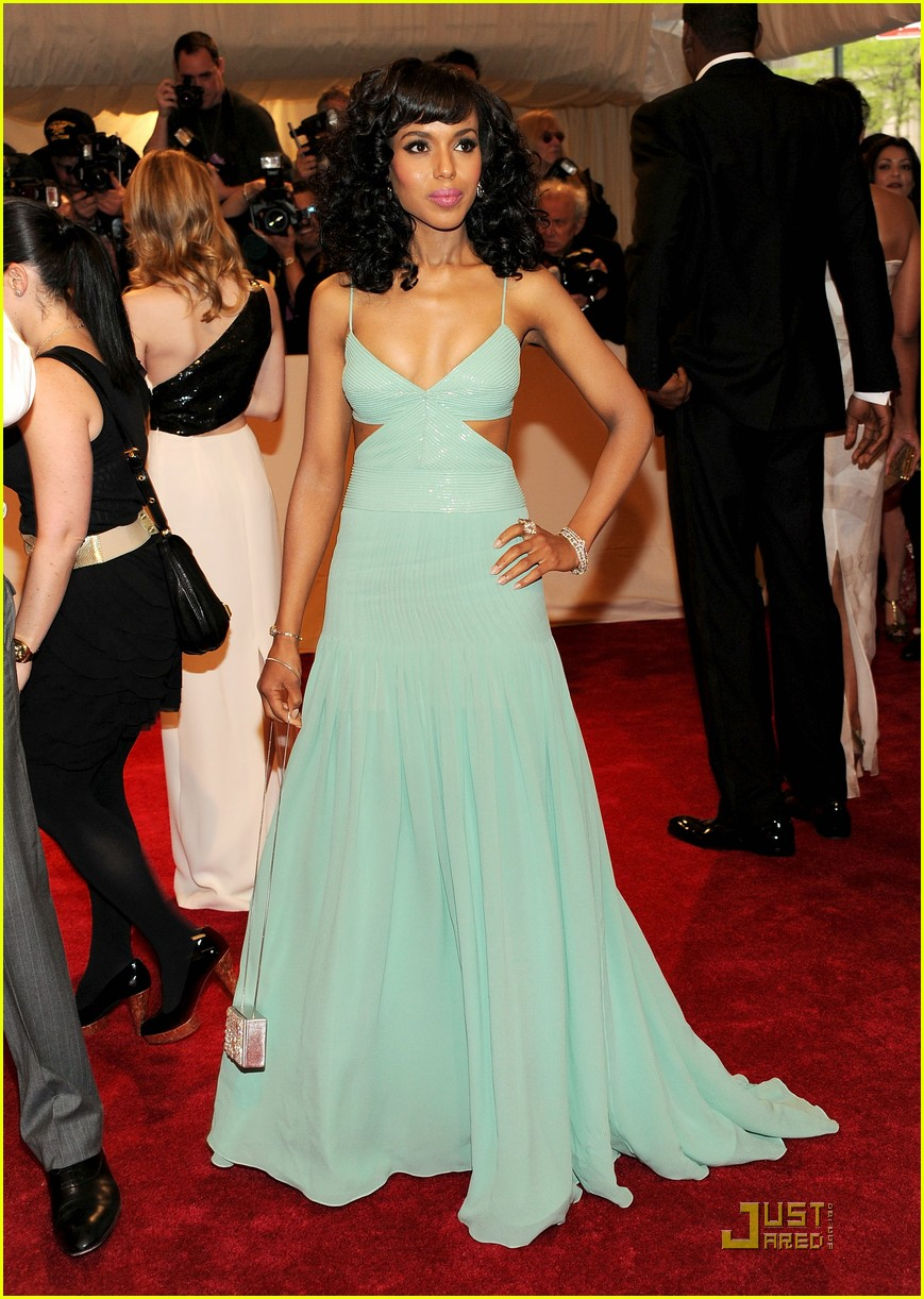 rosario dawson kerry washington mary j blige met ball 2011 112540549