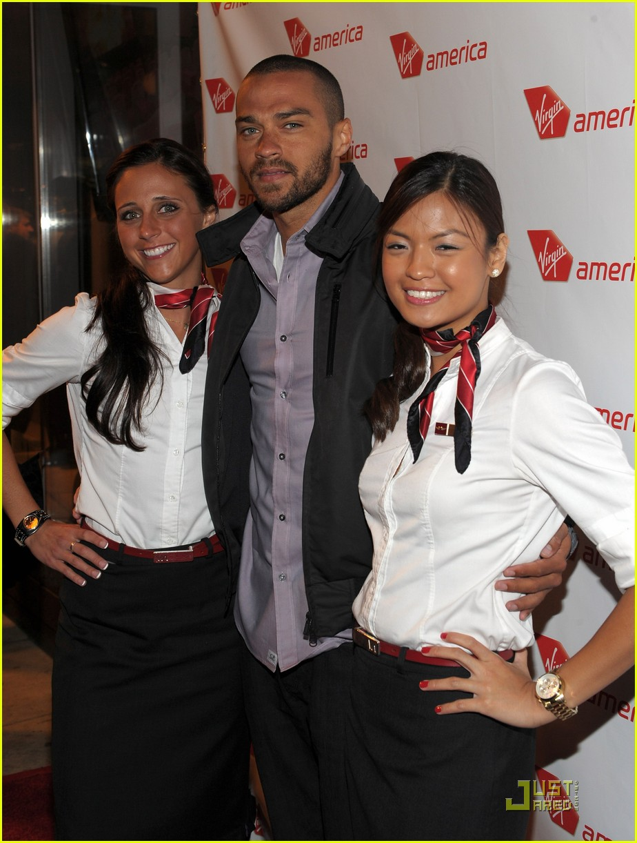 jenna dewan jesse williams virgin america flight launch 04