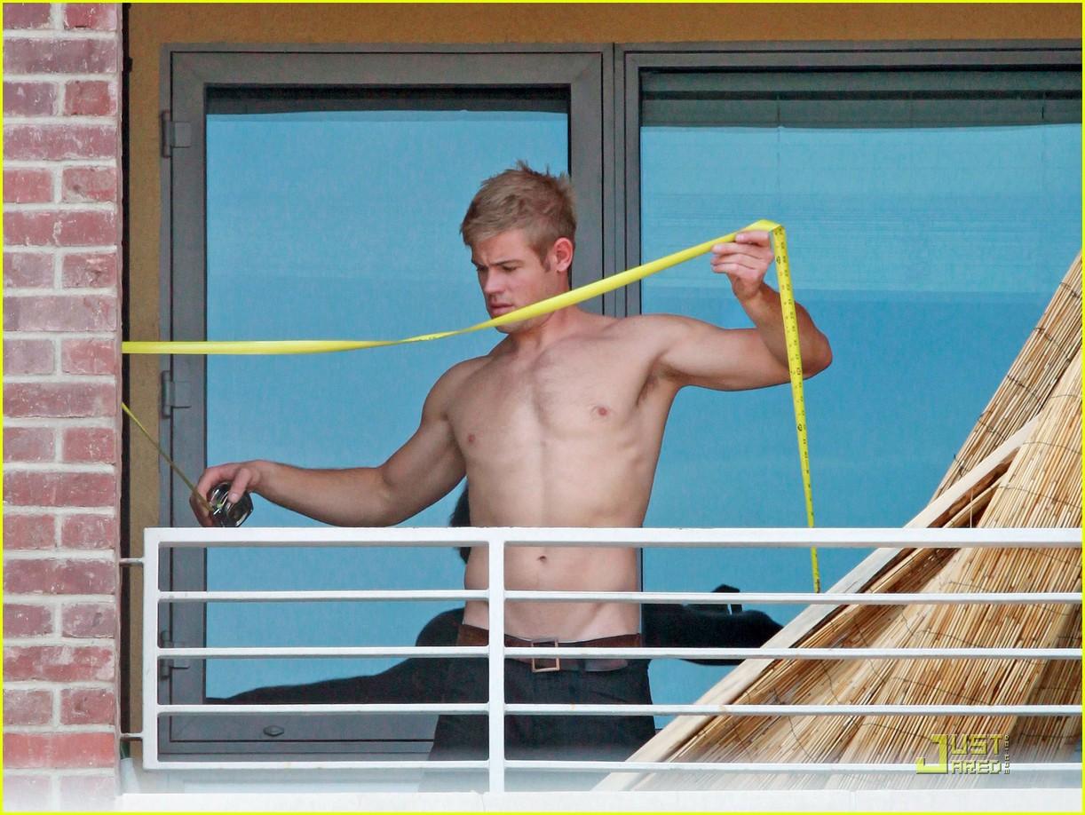 trevor donovan shirtless housework 05
