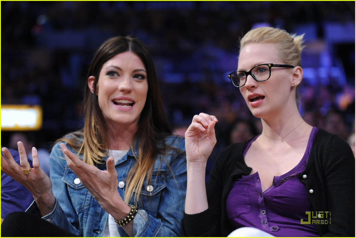 january jones lakers game 02