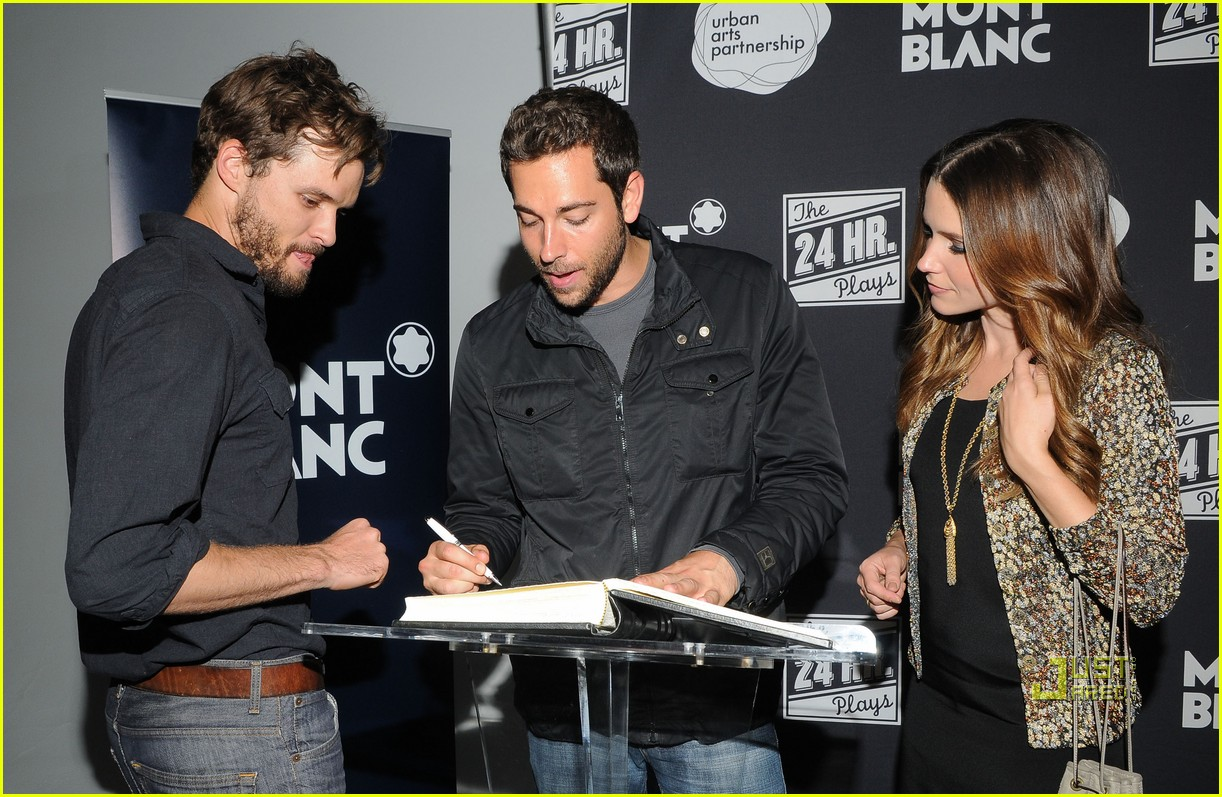 sophia bush austin nichols zachary levi 24 hour plays 01