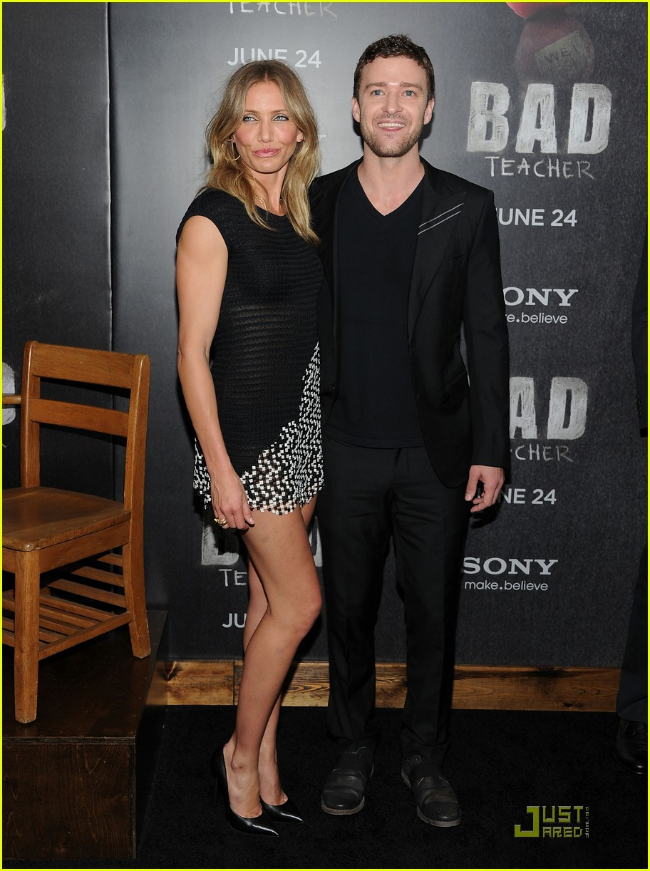 cameron diaz justin timberlake bad teacher premiere 05