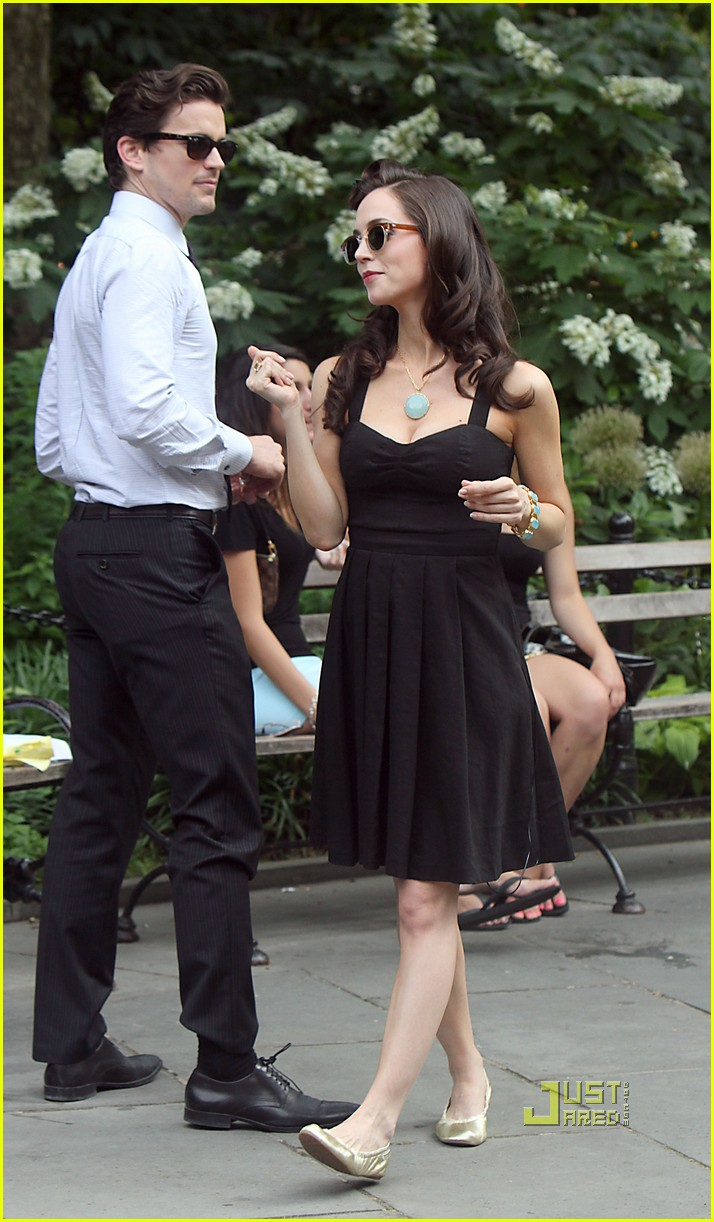 eliza dushku matt bomer white collar set 032551742
