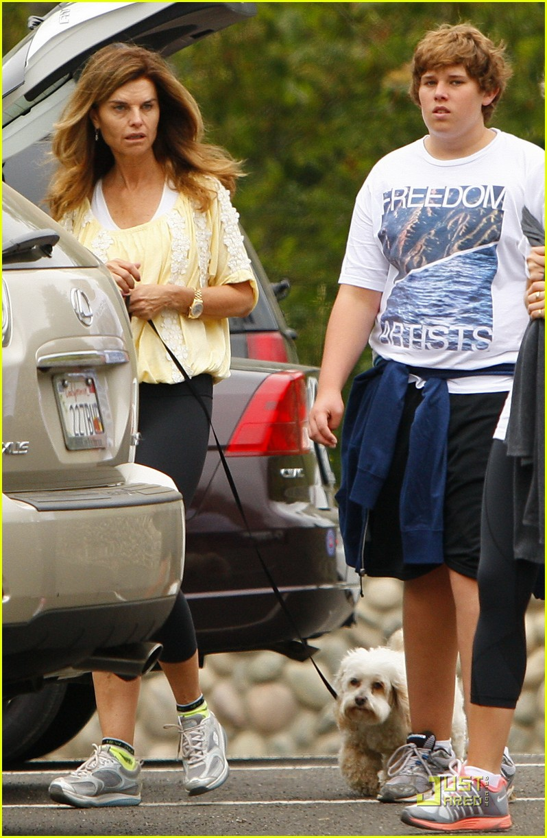 maria shriver hikes arnold patrick schwarzenegger lunch 112551624