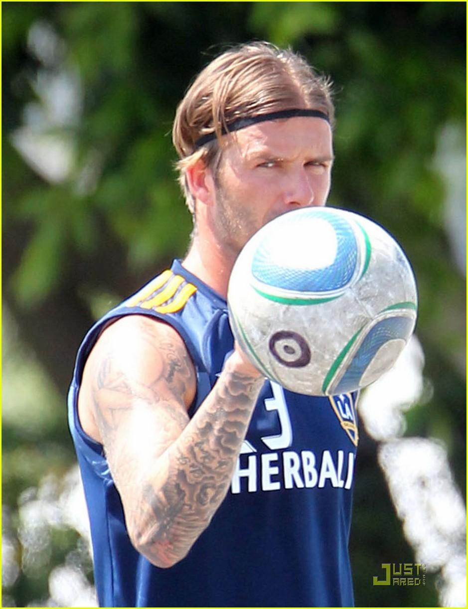david beckham soccer practice with landon donovan 10