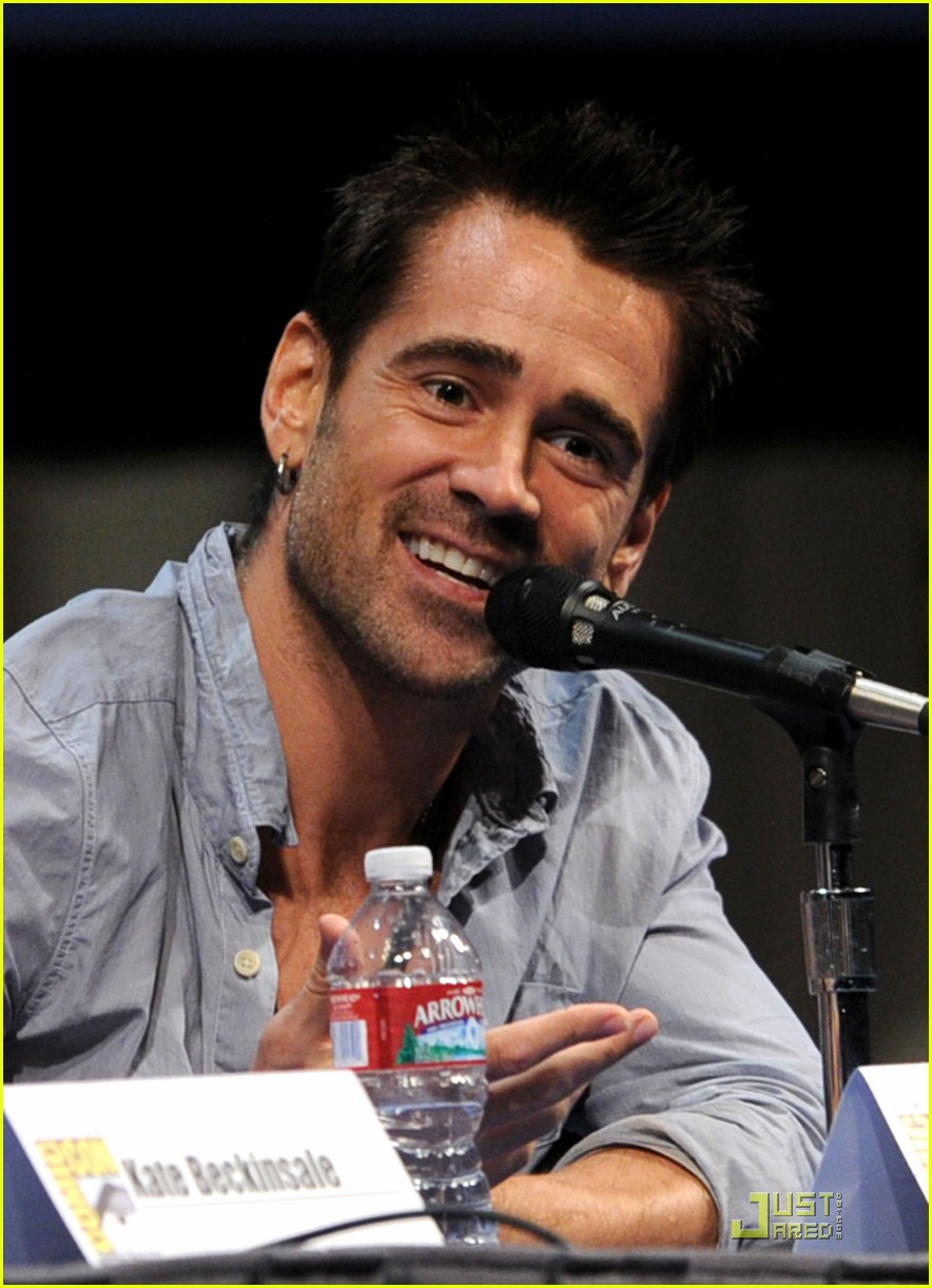 colin farrell jessica biel total recall at comic con 12