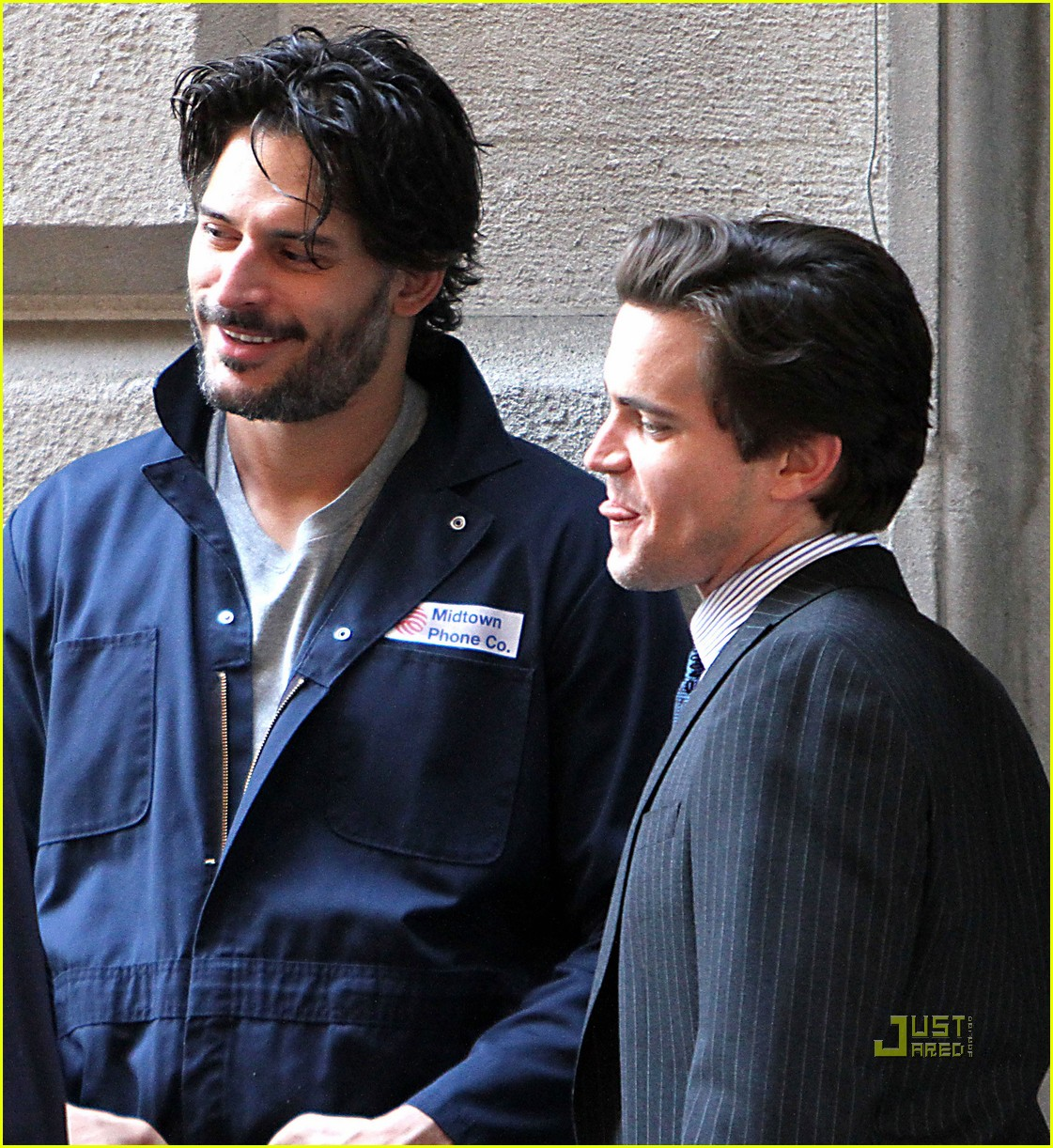 joe manganiello white collar set matt bomer 02