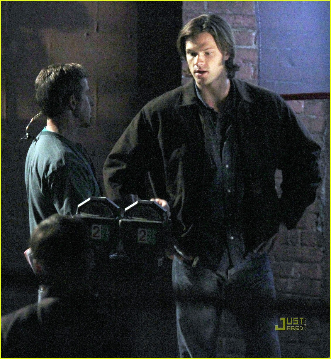 jared padalecki jensen ackles supernatural night shoot 05