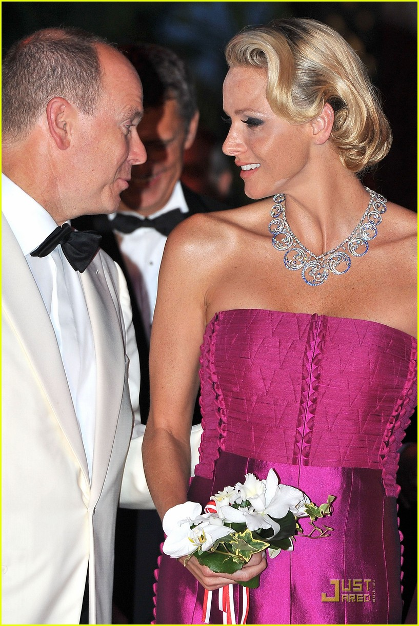 princess charlene prince albert red cross ball 07
