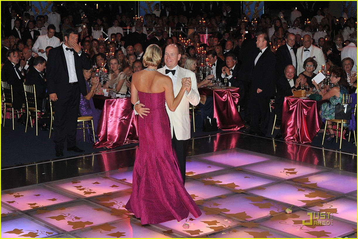 princess charlene prince albert red cross ball 17