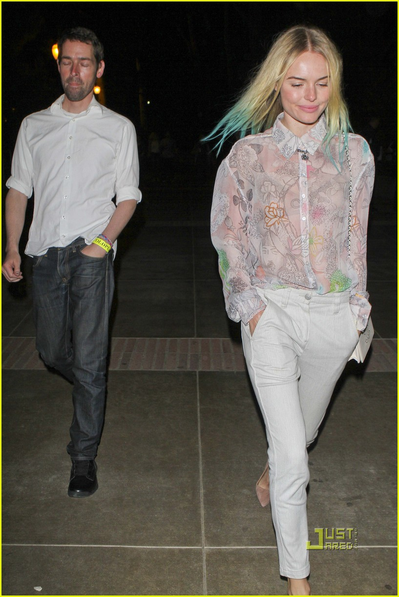 kate bosworth blue hair tips coldplay concert 08