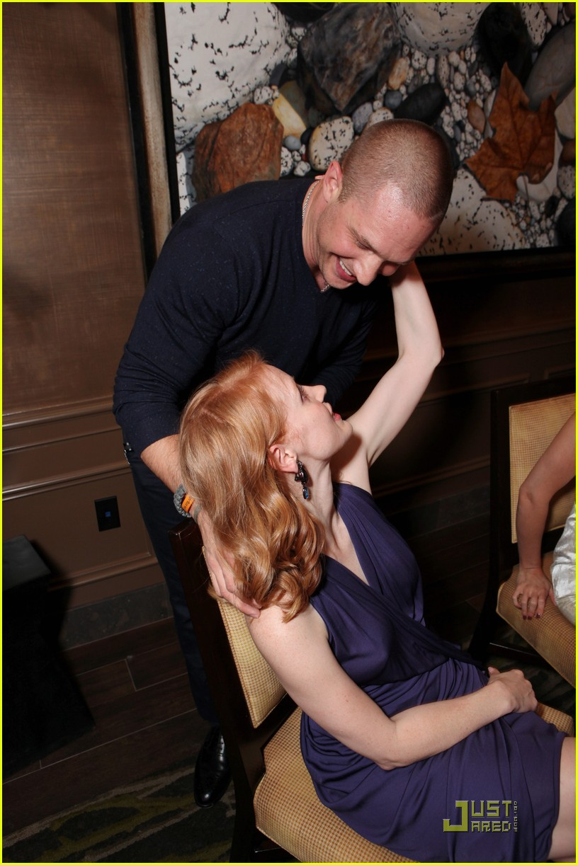 jessica chastain warrior party with tom hardy 02