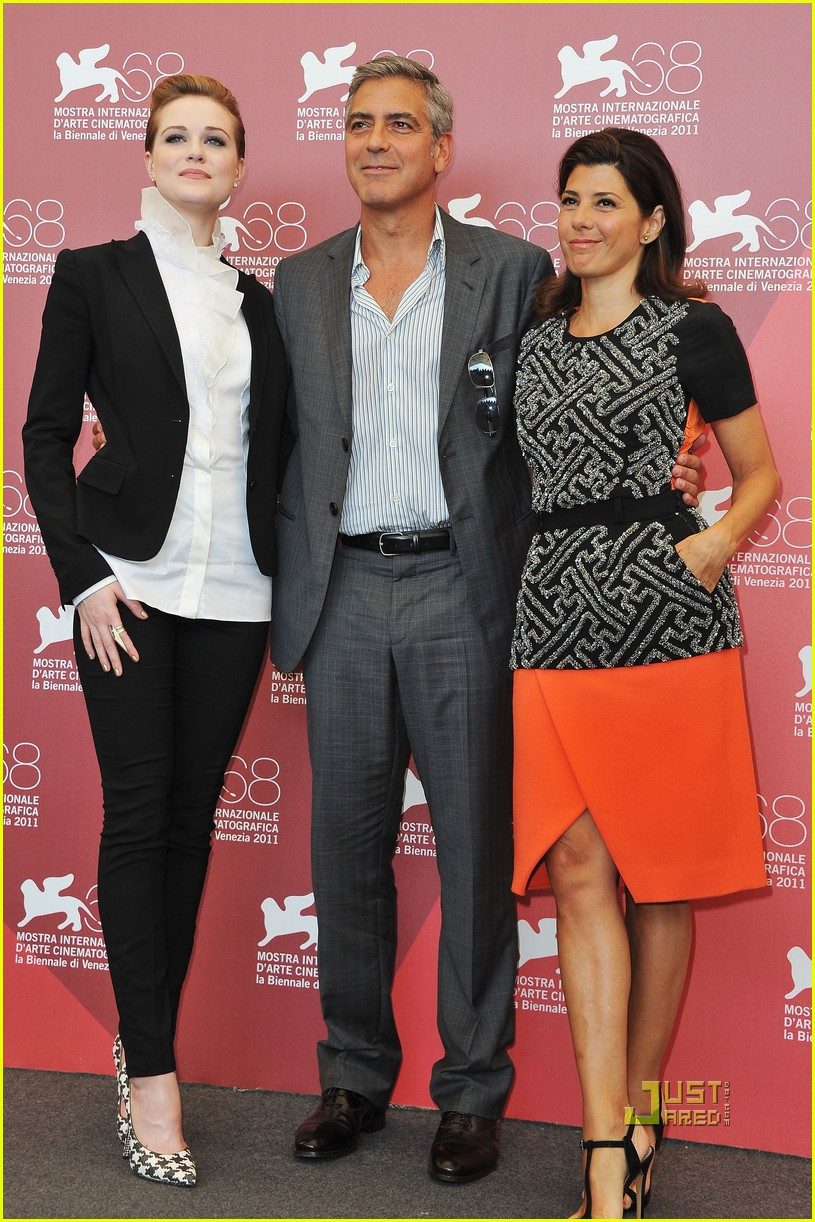 george clooney evan rachel wood marisa tomei ides of march photo call 08