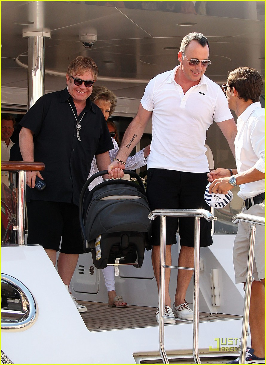 elton john david furnish st tropez with baby zachary 09