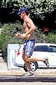 sean penn shirtless jogging with shannon costello 21