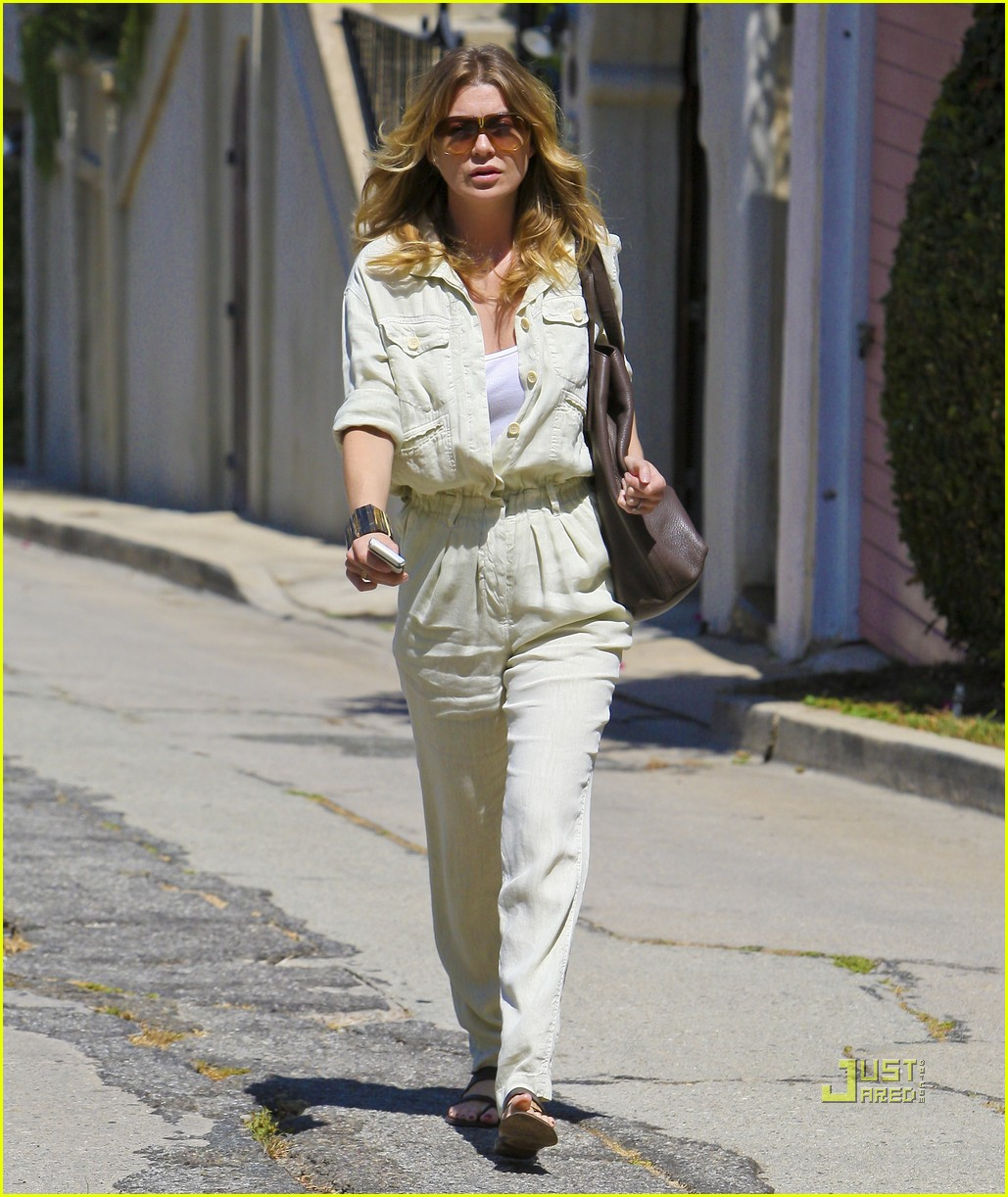 ellen pompeo jumpsuit out la 132571383