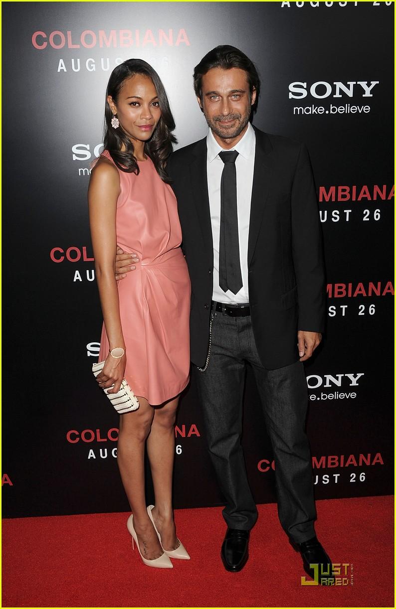 Zoe Saldana: 'Colombiana' Screening with Keith Britton! Zoe Saldana