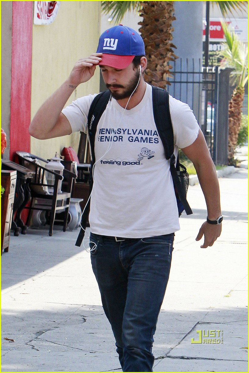 shia labeouf gym senior games shirt 02