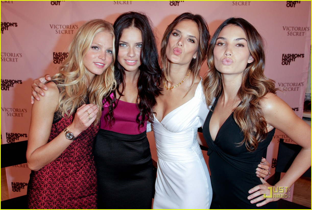 alessandra ambrosio adriana lima fashions night out 22