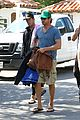 gerard butler walk beach 06