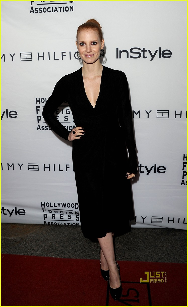 jessica chastain instyle hfpa event 07