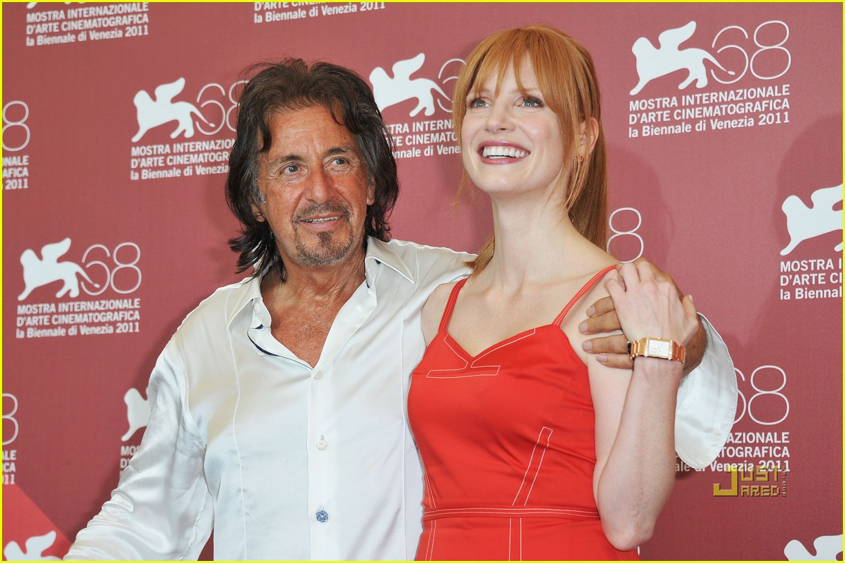 jessica chastain al pacino wild salome photo call 022576590