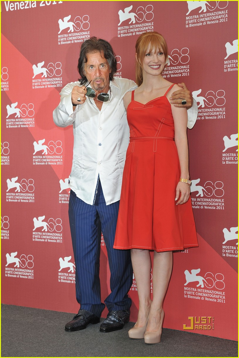 jessica chastain al pacino wild salome photo call 032576591