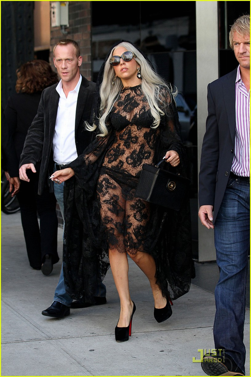 lady gaga lacy sheer dress 03