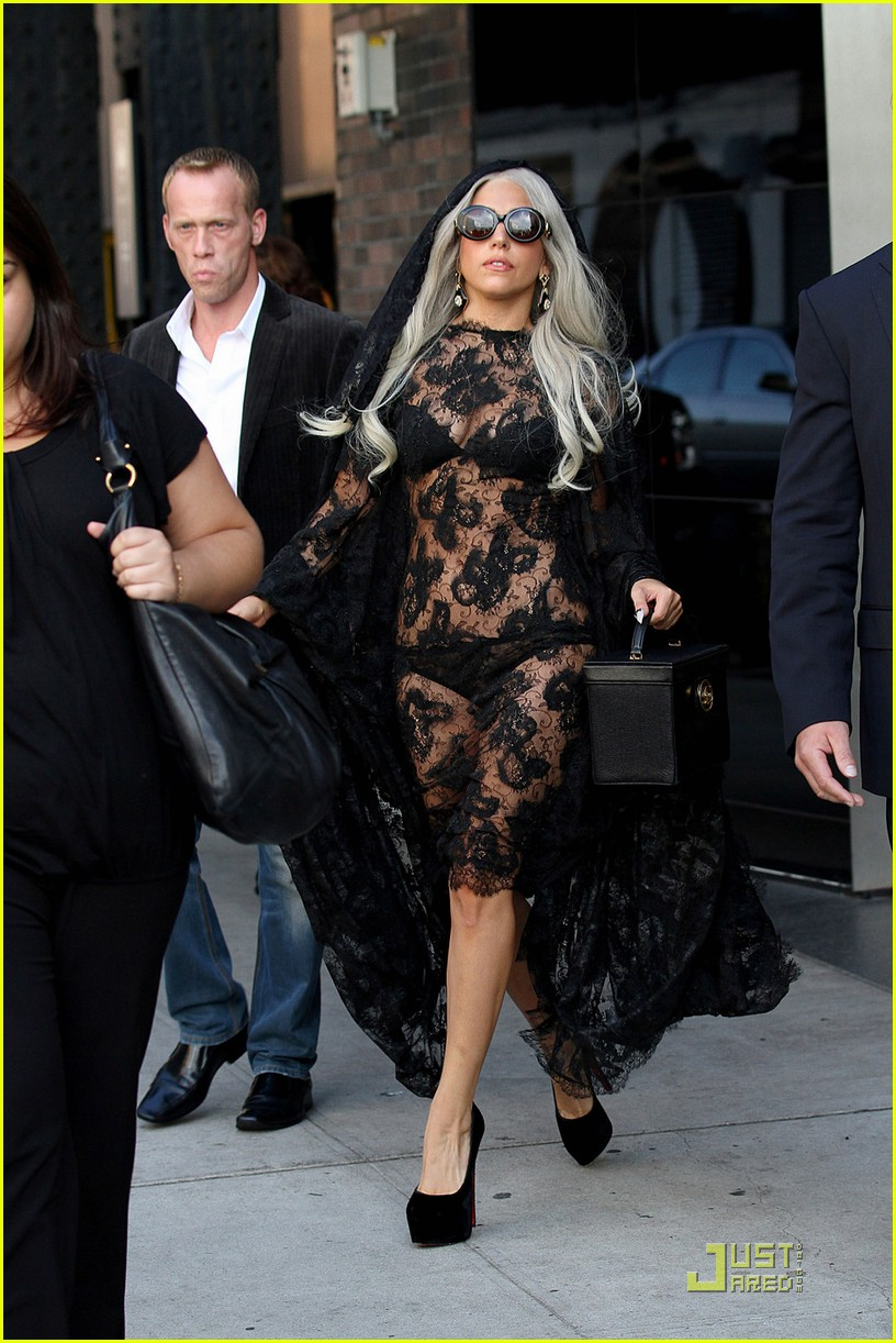 lady gaga lacy sheer dress 04