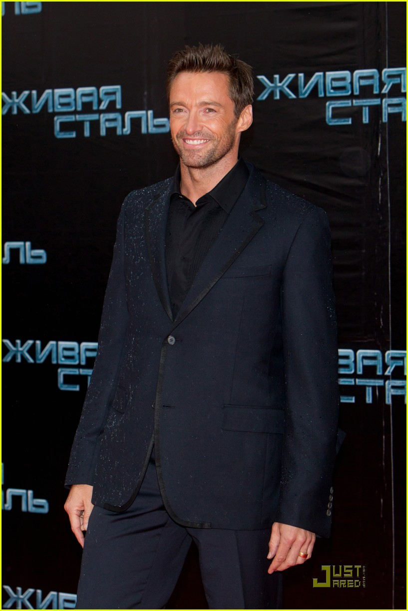 hugh jackman real steel moscow premiere 07