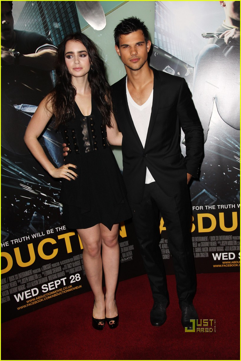 taylor lautner lily collins abduction uk premiere 01
